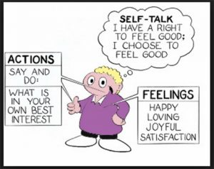 self talk actions feelings