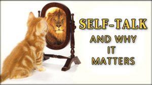 self talk cat lion mirror