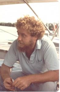 Mark Tietig 1983 aboard La Calma