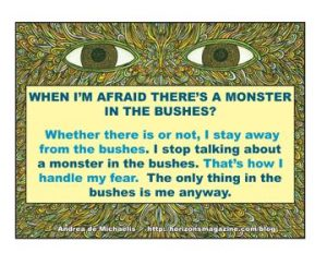monster in bushes quote